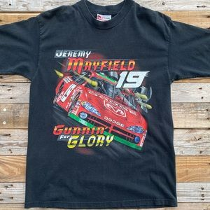 2002 Jeremy Mayfield #19 T-Shirt Size Medium